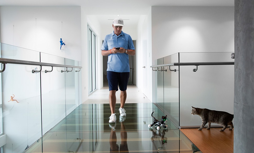 Rickie Fowler And His Cat